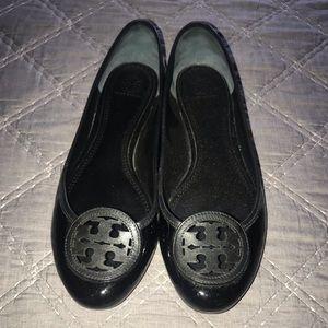 Tory Burch Black Patent flats Size 11 $120